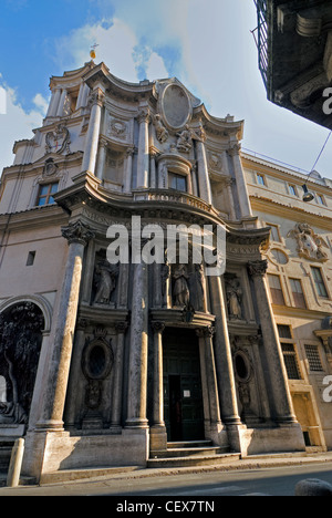 San Carlo alle Quattro Fontane Church, better know as San Carlino, Rome, Latium, Italy - Stock Photo