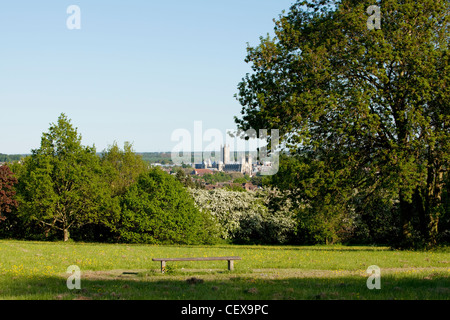 A view of Canterbury Cathedral - Stock Photo