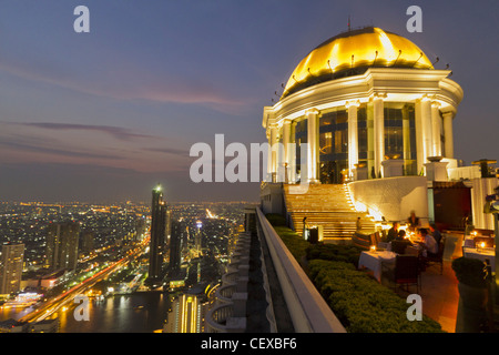 Scirocco Sky Bar at Lebua State Tower in Bangkok , Thailand - Stock Photo