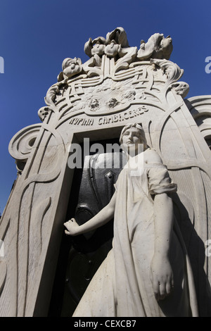 Grace monument Rufina Cambaceres buried alive at La Recoleta Cemetery, Buenos Aires, Argentina - Stock Photo