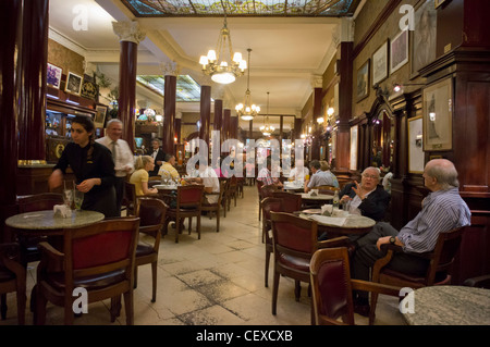 Famous Cafe Tortoni, Buenos Aires, Argentina - Stock Photo