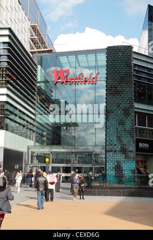 Entrance to the Westfield Stratford City shopping centre in Stratford, UK. - Stock Photo