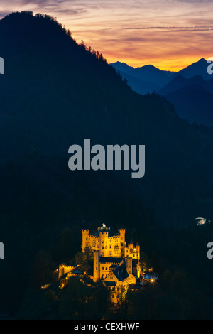 Hohenschwangau Castle, Allgau, Bavaria, Germany - Stock Photo
