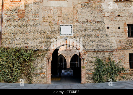 Borromeo castle, Cassano d'Adda, Lombardy, Italy - Stock Photo