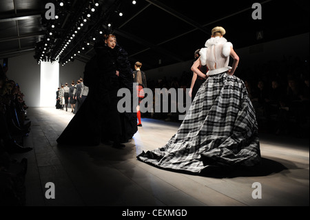 London Fashion Week Runway - Antoni Alison Designer AW 2012/13 at BFC show space, Somerset House, Strand, WC2 - Stock Photo