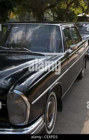 Old Mercedes car Luang Prabang Laos - Stock Photo
