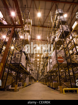 The massive DHL & NHS distribution warehouse in Corby, UK. - Stock Photo