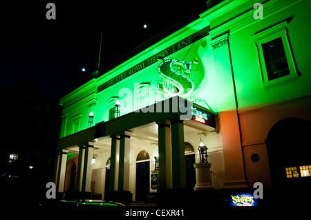 Theatre Royal Drury Lane showing Shrek the Musical, Covent Garden, , London, UK - Stock Photo