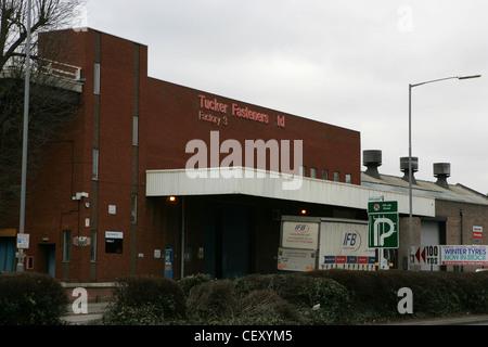 emhart technologies, tucker fasteners factory, birmingham feb 2012 - Stock Photo