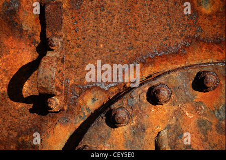 Rusty-colored steel details - Stock Photo