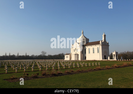 The French National War Cemetery at Notre-Dame de Lorette, Ablain-Saint-Nazaire, France. - Stock Photo