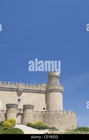 Castillo de Manzanares el Real, the Castle of the Manzanares el Real, Spain - Stock Photo