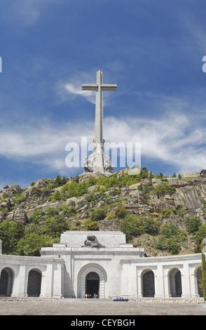 Basilica of the Holy Cross of the Valley of the Fallen (Santa Cruz del Valle de los Caídos), San Lorenzo de El Escorial, - Stock Photo