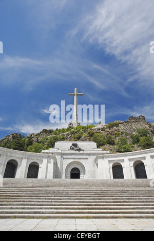 Basilica of the Holy Cross of the Valley of the Fallen (Santa Cruz del Valle de los Caídos), San Lorenzo de El Escorial, - Stock Photo