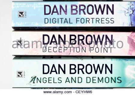 Dan Brown Paperback novels, England - Stock Photo