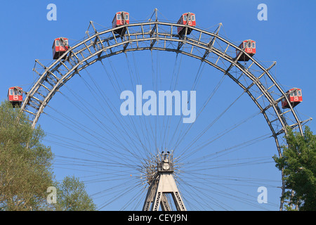 Vienna Giant Ferries Wheel (Riesenrad) in Prater, Austria - Stock Photo