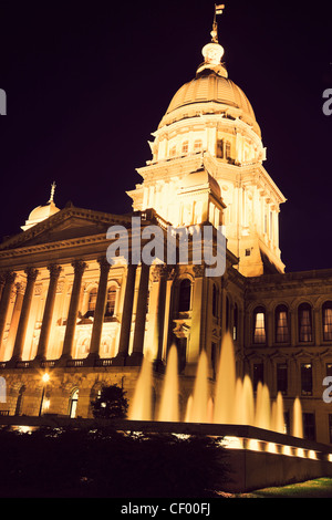 State Capitol Building in Springfield - Stock Photo