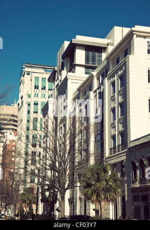 Columbia, South Carolina downtown architecture seen morning time - Stock Photo