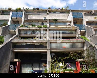 Alexandra Road housing estate iconic new brutalist architecture in London, England, UK - Stock Photo
