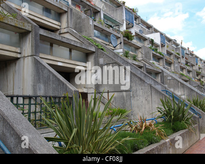 Alexandra Road housing estate iconic new brutalist architecture in London, England, UK - Stock Photo