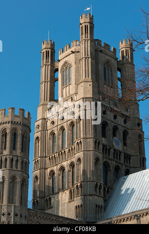 Ely Cathedral in city of Ely, Cambridgeshire, England. - Stock Photo