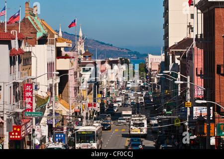Chinatown, San Francisco, California, USA - Stock Photo