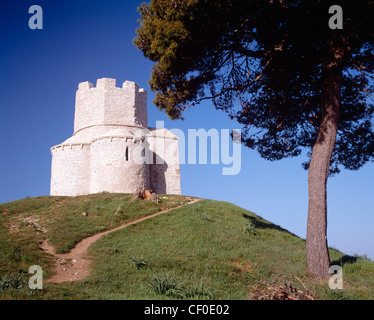 Church of St Nicholas in Prahulje, Nin, Dalmatia, Croatia. - Stock Photo