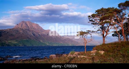 Slioch and Loch Maree, Wester Ross, Highland, Scotland, UK. - Stock Photo