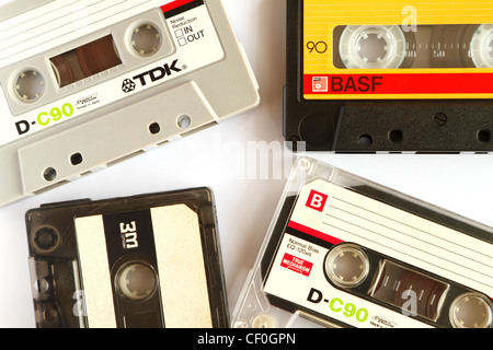 Audio cassette tapes - Stock Photo
