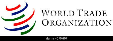 Logo of the World Trade Organization WTO based in Geneva. - Stock Photo