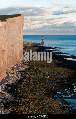The white cliffs of Beachy Head - Stock Photo