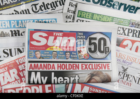 The 'Sun on Sunday' tabloid British Sunday newspaper, launched on 26th February 2012 on other UK national Sunday - Stock Photo