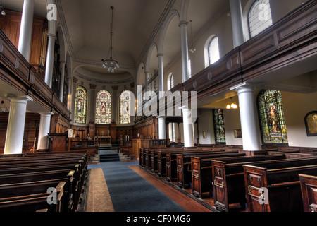 St Anns Church Manchester view down aisle