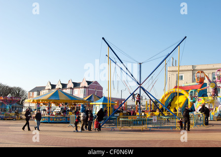 Funfair rides at Barry Island, South Wales, UK, location of filming popular tv series Gavin & Stacey - Stock Photo