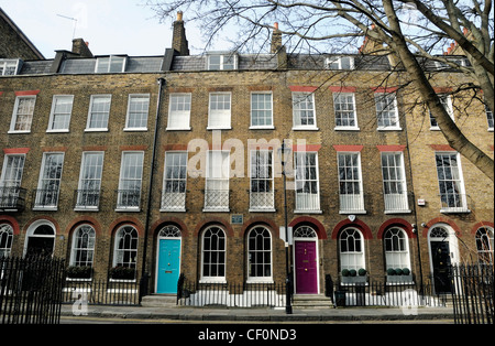 Georgian Houses Duncan Terrace Islington London England UK - Stock Photo