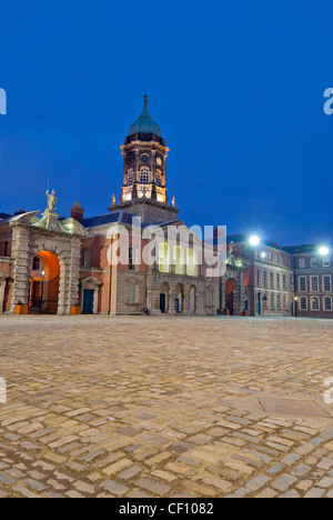 The Bedford tower at Dublin Castle by Night - Stock Photo