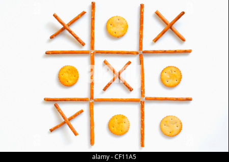 salted sticks and biscuits - Stock Photo