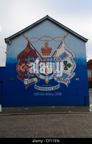 Mural for East Belfast Protestant Boys, the Ulster Volunteer Force and the Royal Irish Rifles - Stock Photo