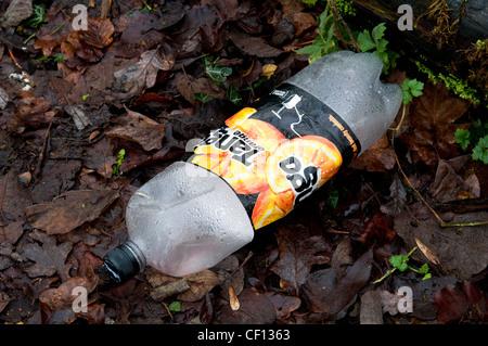 Plastic Tango bottle litter - Stock Photo