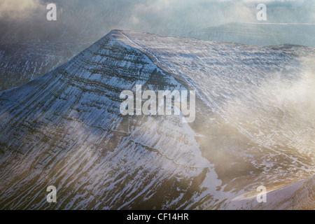Cribyn from Pen y Fan, Brecon Beacons National Park, Wales - Stock Photo