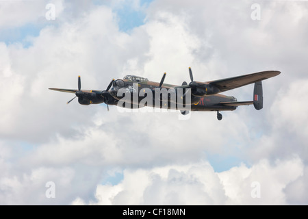 Avro Lancaster PA474 City of Lincoln at RIAT 2010, Fairford. - Stock Photo