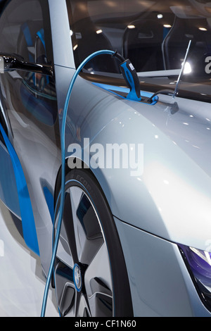 Detroit, Michigan - The BMW i8 concept plug-in hybrid on display at the North American International Auto Show. - Stock Photo