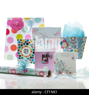 A still life shot of a various greetings cards - Stock Photo