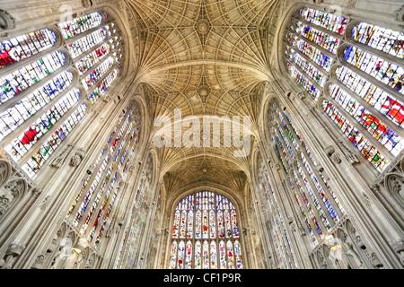 Interior of King's College Chapel, Cambridge 5 - Stock Photo