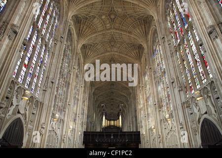 Interior of King's College Chapel, Cambridge - Stock Photo