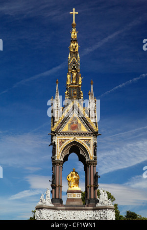 The south side of the Albert Memorial in Kensington Gardens, commissioned by Queen Victoria in memory of Prince - Stock Photo