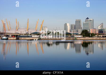 The O2 (formerly known as the Millennium Dome) on the Greenwich peninsula in South East London - Stock Photo