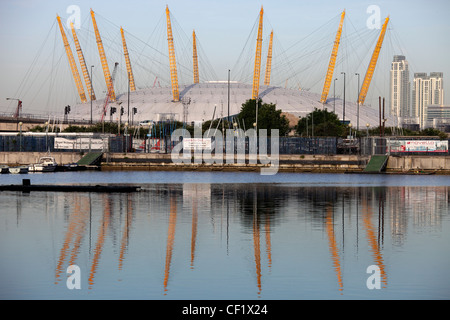 The O2 (formerly known as the Millennium Dome) on the Greenwich peninsula in South East London. - Stock Photo