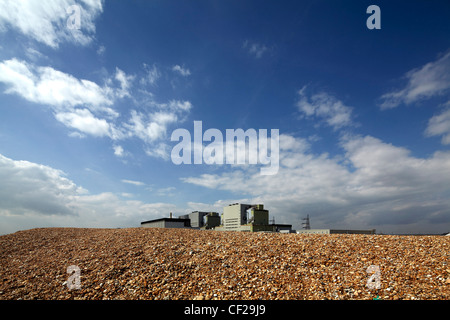 Dungeness nuclear power station on the Kent coast. - Stock Photo