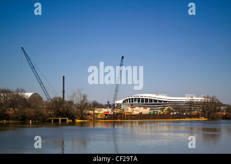 DC Water Sewer Authority WASA Anacostia River Tunnel Clean Rivers Project near Robert F Kennedy Memorial Stadium - Stock Photo